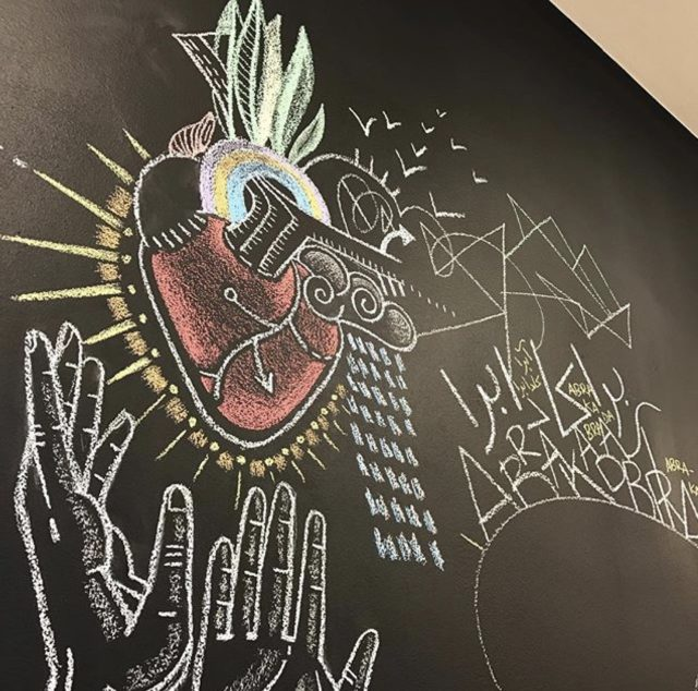 Chalk Art on Design Institutes Walls