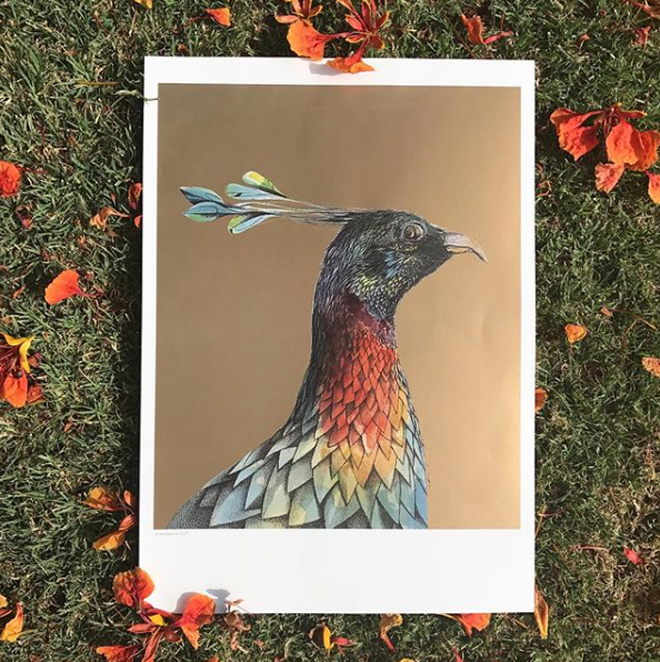 Golden Bird Prints for Sale